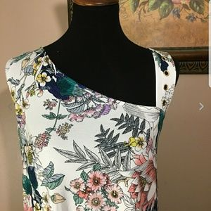 Cable & Gauge One Shoulder Assymetrical Blouse